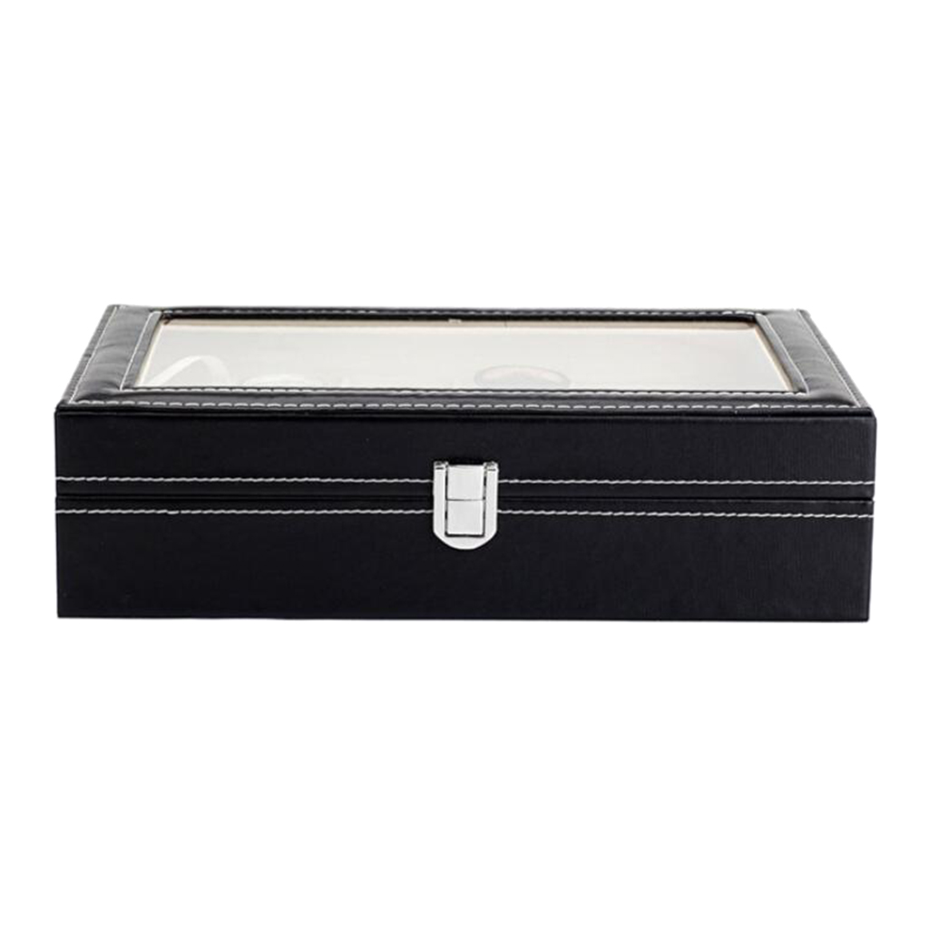 10 Slots Retro PU Watch Box Case Organizer Display for Men Women, Brilliant PU Box with Soft Leather Pillows
