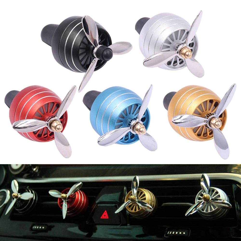 LED Colorful Lights Fan Zinc Alloy Mini Fan Car Outlet PErfume Air Conditioning Small Fan Car Outlet Car PErfume Fan