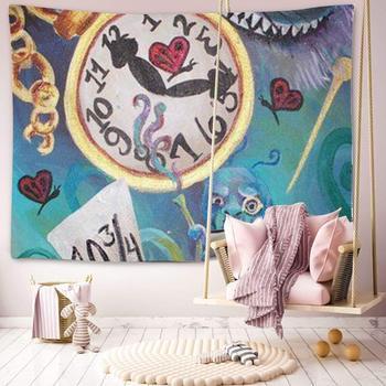 Tapiz Alicia en el país de las Maravillas decoración de hogar para colgar en la pared