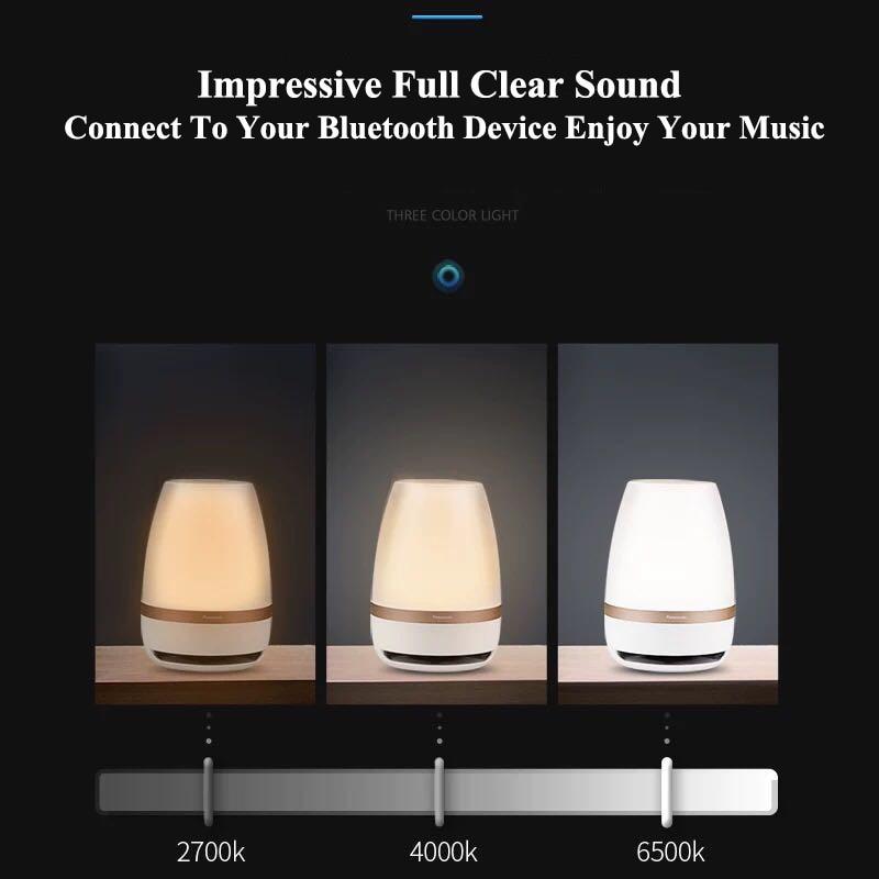 Panasonic veilleuse tactile capteur Bluetooth haut parleur lumière télécommande lampe LED sans fil intelligent musique lampe de Table - 6