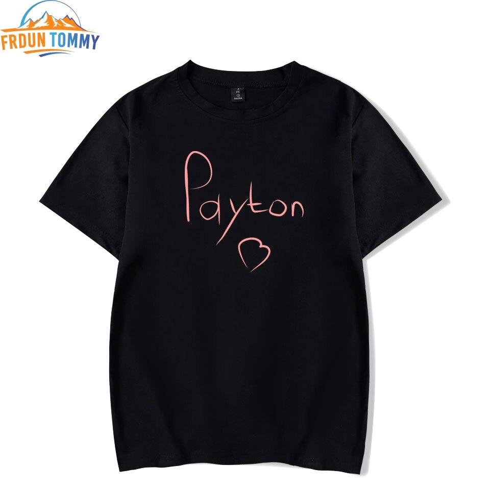 Payton Moormeier Printing Men Women Printed Funny Tshirt 2020 Social Media Stars Oversize Summer Kawaii Unisex Harajuku Tops