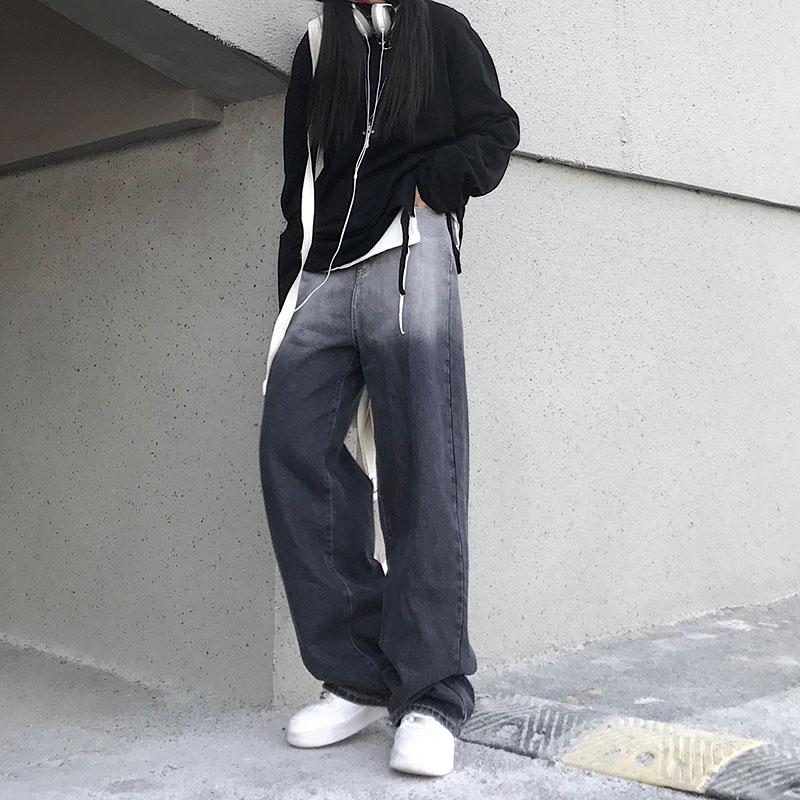 Woman Jeans High Waist Clothes Wide Leg Denim Clothing Blue Streetwear Vintage Quality 2021 Fashion Harajuku Straight Pants 5