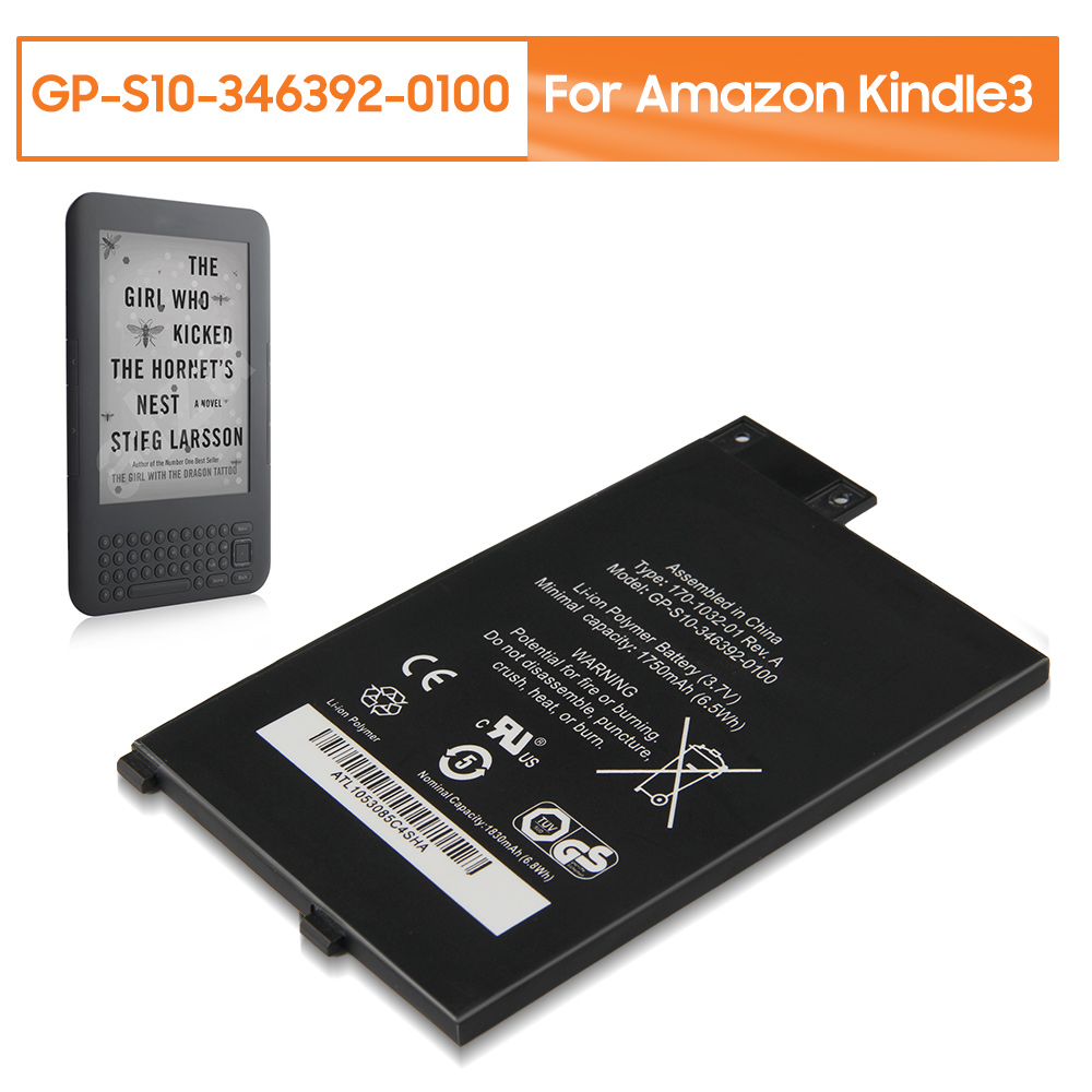Original Replacement Battery GP-S10-346392-0100 For Amazon Kindle3 Kindle 3 S11GTSF01A D00901 Rechargable Battery 1750mAh +Tools