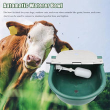 Automatic Waterer Bowl Stock Waterer Float Valve Water Trough Livestock Drinking Bowl Farm Supplies for Cow Cat Sheep Dog Horse недорого