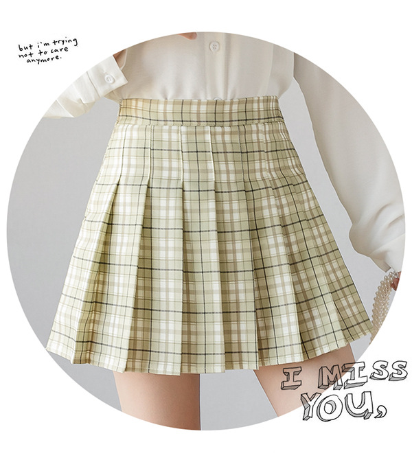 XS-XXL High Waist A-Line Women Skirt Striped Stitching Sailor Pleated Skirt Elastic Waist Sweet Girls Dance Skirt Plaid Skirt 61