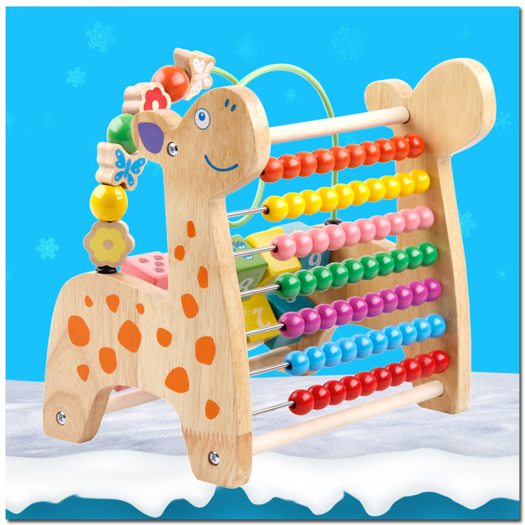 Children Educational Force Bead-stringing Toy Boy One-And-a-Half-Year-Old Baby Beads 6-12 Month 1-3 A Year Of Age Baby Girls