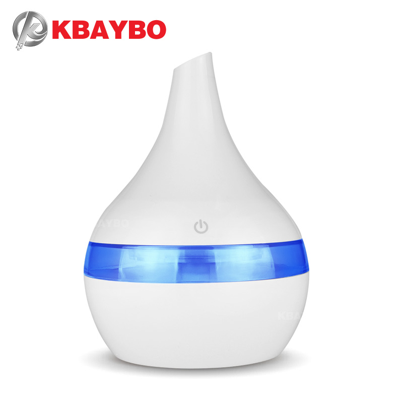 KBAYBO 300ml Mini USB Essential Oil Diffuser Electric Mist Maker Cool Mist Humidifier Aroma Humidifier With Colorful LED Lights