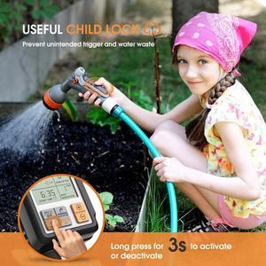 Image 2 - Temporizador de agua automático electrónico con pantalla LCD, controlador de aspersor para jardín al aire libre, dispositivo de riego automático, herramientas de riego