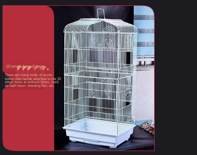 Papagaio luxo villa papagaio gaiola com pele