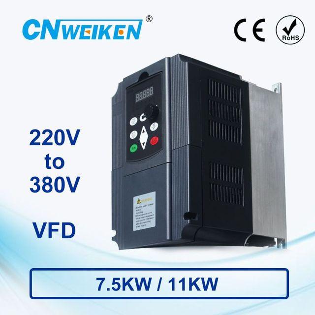 WK310 boost convertitore di frequenza monofase 220V a Tre fase 380V frequenza variabile inverter7.5KW/11KW per il motore