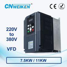 WK310 boost frequenz konverter Einzigen phase 220V zu Drei phase 380V variable frequenz inverter7.5KW/11KW für motor