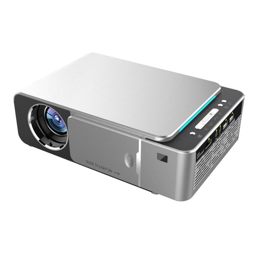 T6 HD светодиодный проектор 1280x720p на выбор Android 7.1.2 портативный HDMI USB 1080p проектор для домашнего кинотеатра с Bluetooth Wi-Fi и вилкой Стандарта США