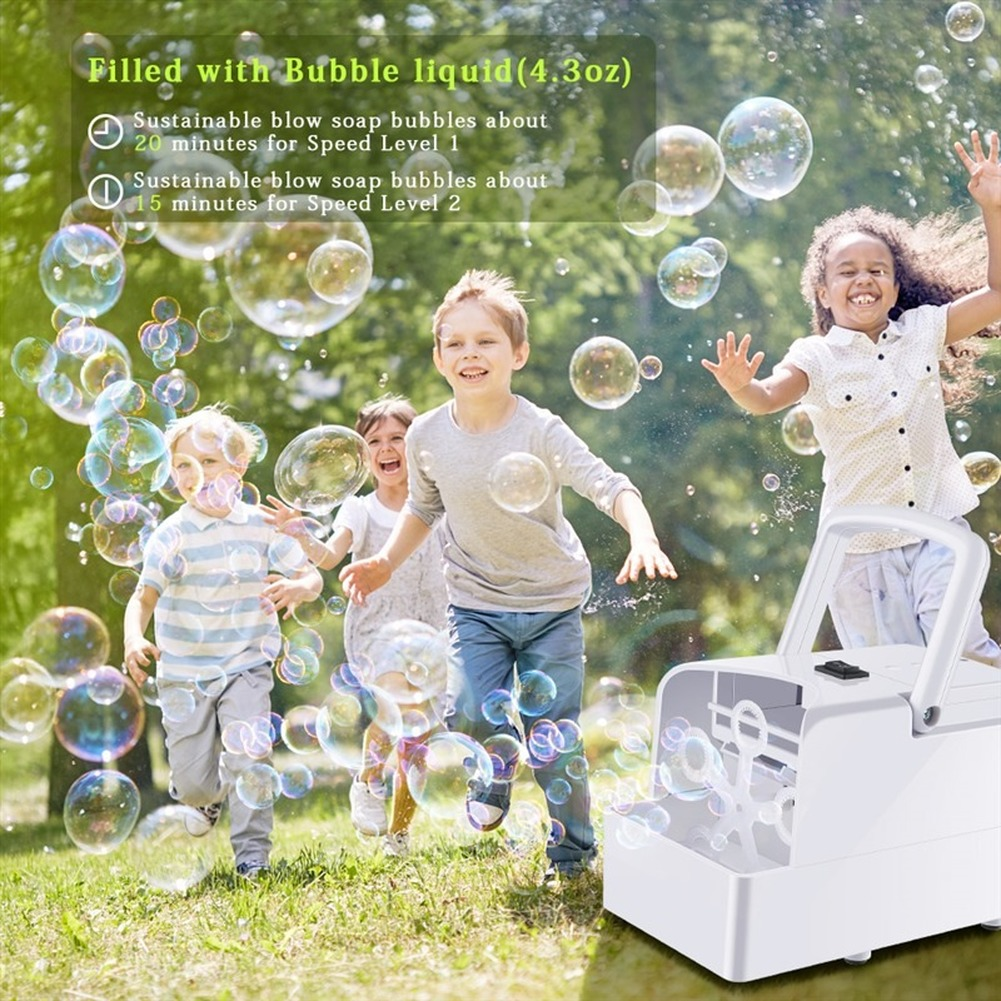Bubble Machine Automatic Bubble Blower Party Birthday Wedding Bubble Maker Summer Outdoor Toy For Kids Dropshipping Blue Color