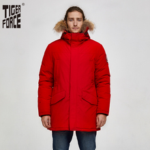 타이거 포스 2019 알래스카 파카 겨울 자켓 남성용 방수 웜 코트 리얼 모피 후드 남성 두꺼운 스노우 자켓 빅 포켓
