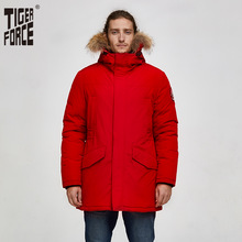 Parka Winter Jacket Warm Coat Hooded Alaska Tiger-Force Real-Fur Male Waterproof Men