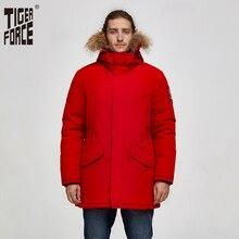 Tiger Force chaqueta de invierno para hombre, abrigo Cálido impermeable con capucha de piel auténtica, chaqueta gruesa de nieve con Bolsillo grande, Alaska, 2019
