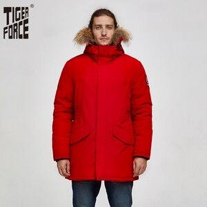 Image 1 - Tijger Kracht 2019 Alaska Parka Winter Jas Voor Mannen Waterdichte Warme Jas Met Echt Bont Capuchon Mannelijke Dikke Snowjacket Grote pocket