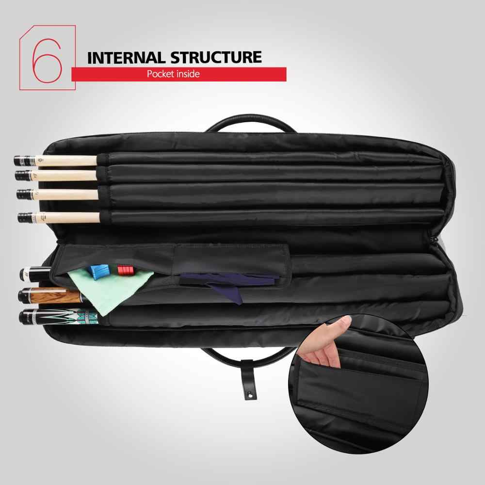 Konllen Billiards 7 Holes Cue Case 3 Butts 4 Shafts Carrying Bag Gray High Capacity Oxford Canvas Bag Sturdy Wear Resistant Case Snooker Billiard Accessories Aliexpress