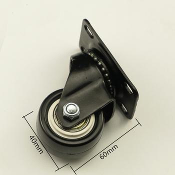 4 szt Gumowe kółka czarne krzesło biurowe obrotowe gumowe kółka przemysłowe hamulec uniwersalny koła tanie i dobre opinie CN (pochodzenie) Kółka do mebli CZ5000017 1 5 (40mm) Rubber Black Woodworking