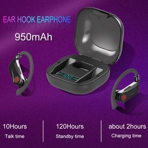 Image 5 - Power HBQ PRO TWS wireless earphones Bluetooth 5.0 earburds Stereo Sport headphones 950mah case Waterproof ear hook Headsets Q62