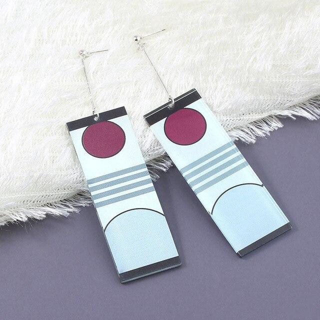 Acrylic Drop Earrings Demon Slayer Kimetsu no Yaiba Blade of Ghost Earings For Women Men Cosplay Jewelry Accessories Gift 3