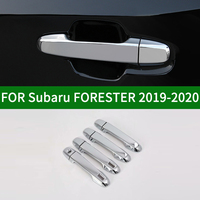 For Subaru FORESTER 2019-2020 fifth generation Glossy chrome silver  side Door Handle Covers Trims