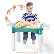 BanBao Big Building Block Desk Compatible Duploed Size Brick Multifunctional Study Table Learning Painting Board Children Toys