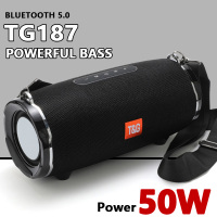 TG187 50W High Power Bluetooth Speaker Waterproof Portable Column For PC Computer Speakers Subwoofer Boom Box Music Center Radio