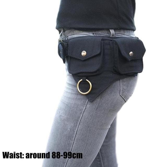 Saco de cintura feminina projetado para mulheres ao ar livre esportes dinheiro rua hip-hop viajar ou cinto estilo saco x4b9 5