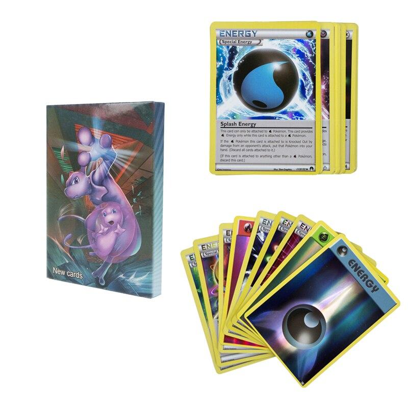 20 pçs caixa conjunto série de energia pokemon jogo batalha carte negociação sem repetição inglês brilhando cartões coleção treinador cartão brinquedo