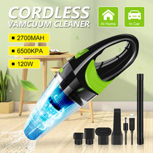 6500pa Strong Power Car Vacuum Cleaner DC 12V 120W Cordless Wet and Dry Dual Use Auto Portable Vacuums Cleaner For home Office(China)