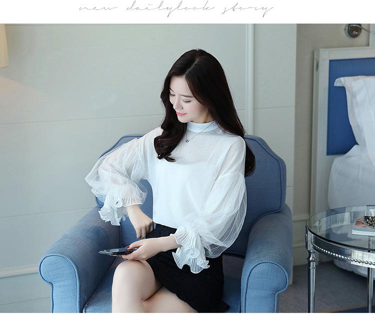 2019 Women tops and Blouses ruffless Summer autumn Long Sleeve White Shirt Casual Female Chiffon Blouse Women Clothing plus size 29