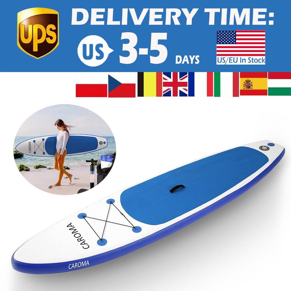 Portable planche de Surf 320x76x15cm gonflable debout adulte Anti-fuite Valve Paddle Board ISUP planche de Surf Bonus manuel Pum