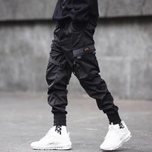 Брюки мульти-карманы дышащий хлопок смесь мужские повседневные карго брюки для на открытом воздухе