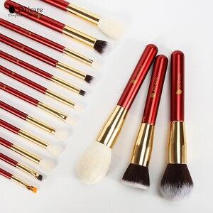 Image 5 - DUcare 15 sztuk pędzle do makijażu zestaw profesjonalne naturalne kozy szczotki do włosów fundacja Powder Contour Eyeshadow pędzle do makijażu