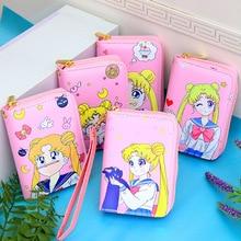 Zipper Wallet Purses Sailor-Moon Girls Women Card-Holder Female Small Fashion Short