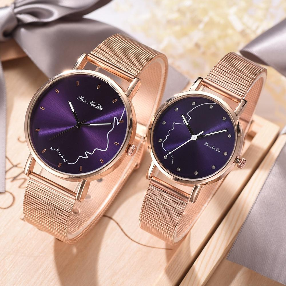 2019 High Quality Ladies Watch Women Mesh Silicone Strap  Women Watches Quartz Casual Sports Wrist Watch Newest