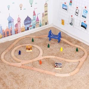 Wooden Railway Toy Simple Set