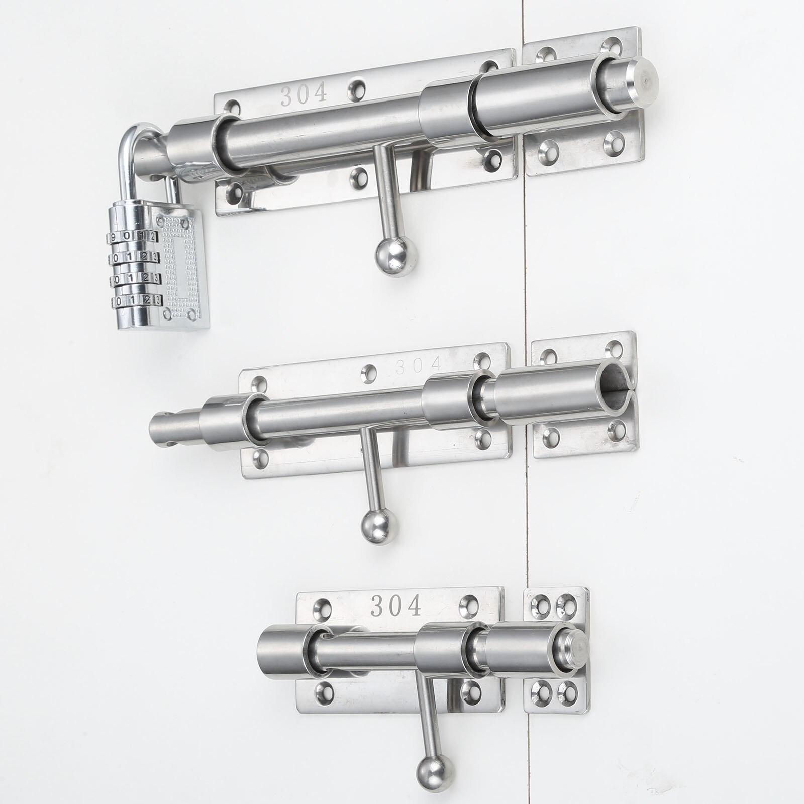 Slide Bolt Latch Lock Solid Heavy Duty Security Barrel Latch Hasp Pin with Screws for Fence Window Gate Interior Barn Door