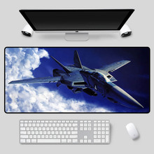 XGZ Exquisite aircraft pattern mouse pad fighter series table mat high-speed non-slip keyboard for csgo dota2