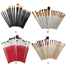 20 pcs Makeup Brush Kit Foundation Loose Powder Eyeshadow Blush Eyebrow Lip Tool Set Recommend