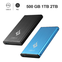 Portable 2.5inch 2TB/1TB/500GB USB3.0 External Hard Disk Drive SATA III Memory Storage Device HDD for Desktop Computer Hot