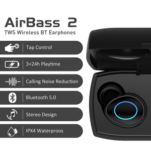 Image 2 - LEAGOO A2 TWS Bluetooth 5.0 Wireless Earphone Tap Control IP4X Waterproof Stereo Auto Pairing Noice Reduction with Charging box