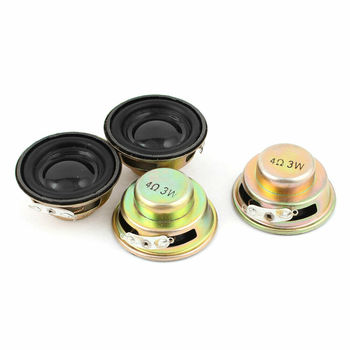 10 sztuk/partia 3 W 4R głośnik nimi głośniki wzmacniacz gumowa uszczelka głośnik trąbka 3 Watt 4 ohm megafon średnica 40MM