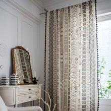 Модные занавески для окон с кисточками спальни драп отвесный