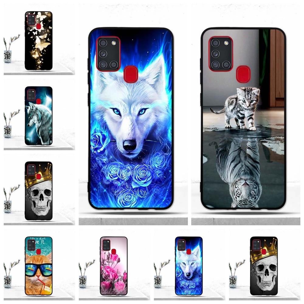 Soft TPU Silicone Case For Samsung A21S Case Back Cover For Samsung Galaxy A21S Case A 21S A21 S Phone Cover Fundas Coque Bumper