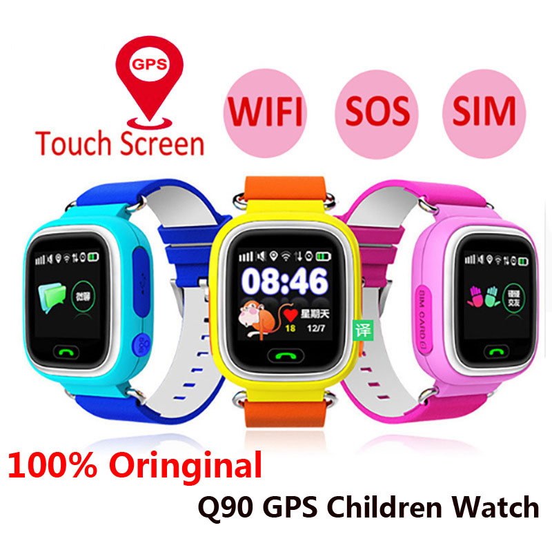<font><b>Q90</b></font> Gps Child <font><b>Smart</b></font> <font><b>Watch</b></font> Phone Position Children <font><b>Watch</b></font> Wifi Color Touch Screen Gps Positioning Sos Baby <font><b>Kid</b></font> SmartWatch image