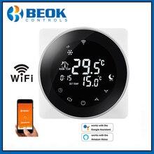 Wifiサーモスタットスマート温度電気暖かい床温度調節alexa googleホーム 200 240vで動作