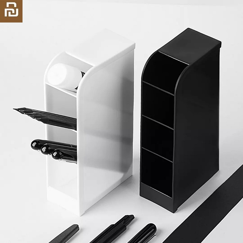 Fizz Multi-functional Obliquely Inserted Tassel Powder Penholder Office Desk Receipt Box Stationery Shelf Make-up Brush Receiver