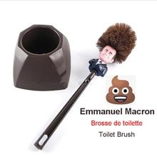 Emmanuel Macron Brosse WC Brosse de toilette France President Trump Toilet Brush Funny